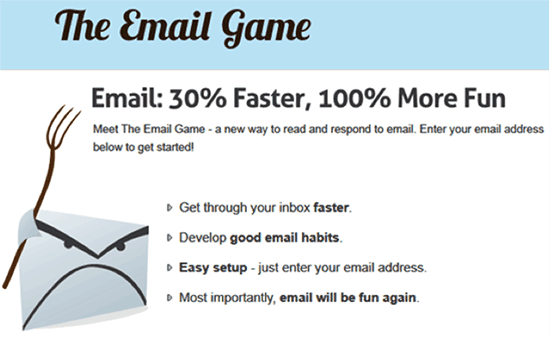The Email Game - Juega a ser productivo